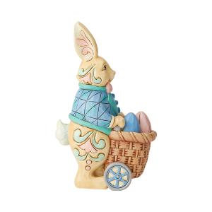 Bunny Pushing Cart 12.5cm